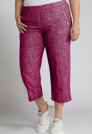 Trousers - magnolia red melange
