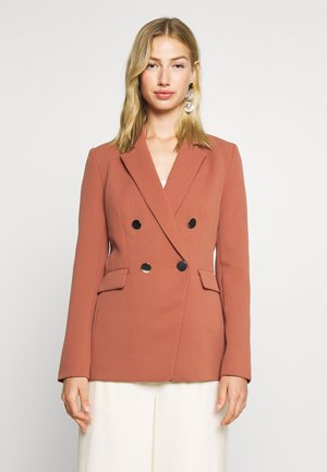 EDITH - Short coat - dark red