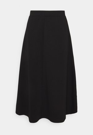 OBJSAVA SKIRT - A-Linien-Rock - black