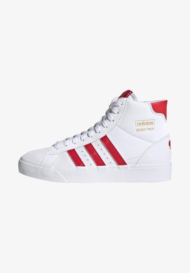 BASKET PROFI VULCANIZED SHOES - Zapatillas altas - ftwr white/vivid red/ftwr white