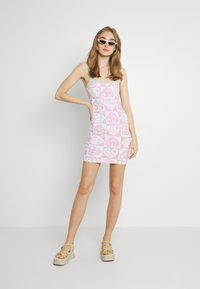 NEW girl ORDER - HEART REPEAT LOGO DRESS - Day dress - pink - 1