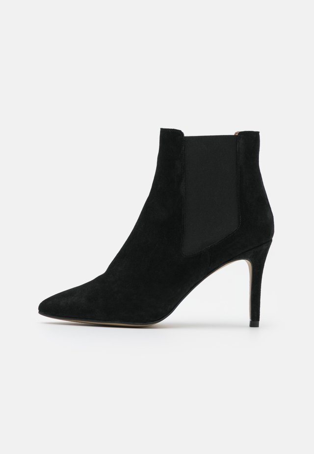 BIADANGER CHELSEA - High heeled ankle boots - black