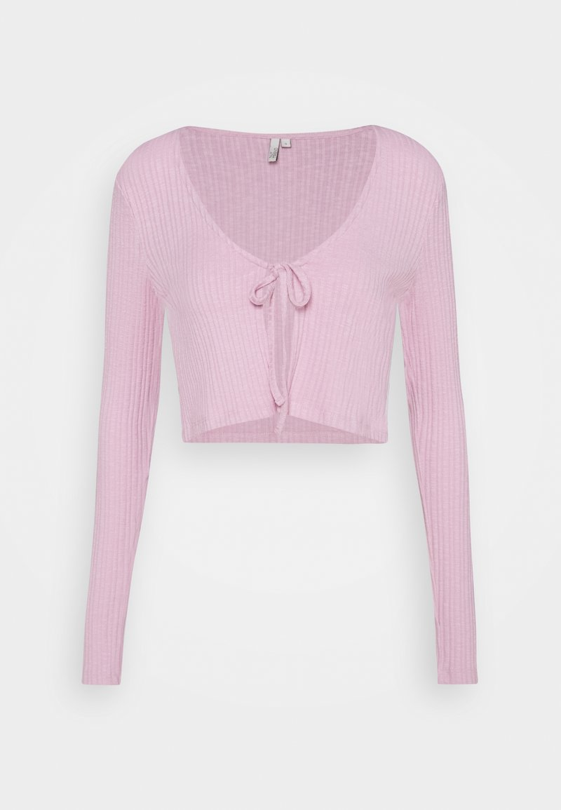 Nly by Nelly - TIE FRONT - Cardigan - pink