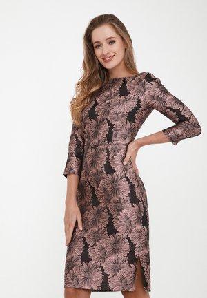 MUARA - Shift dress - dunkelrosa, schwarz