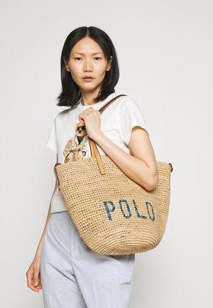 Tote bag - natural/blue