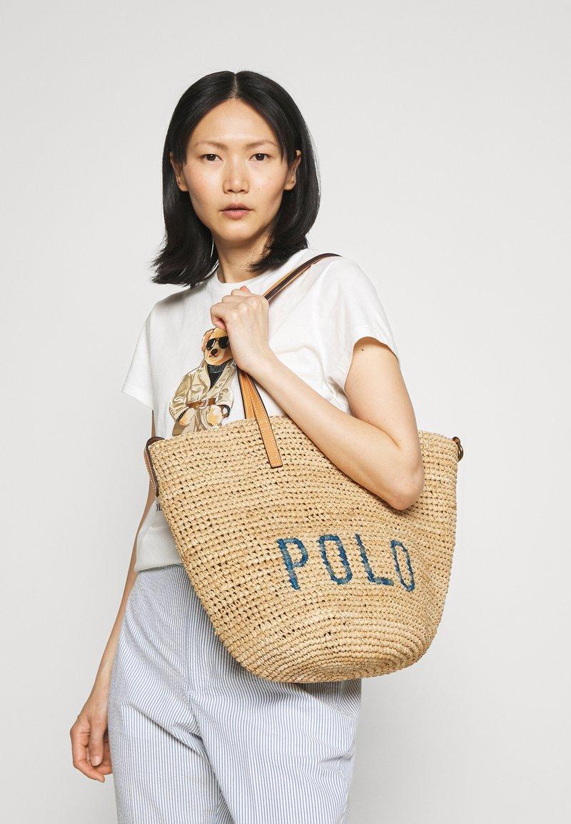 Polo Ralph Lauren - Velká kabelka - natural/blue