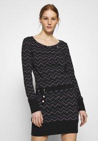 Ragwear - ALEXA ZIG ZAG - Denní šaty - black - 0