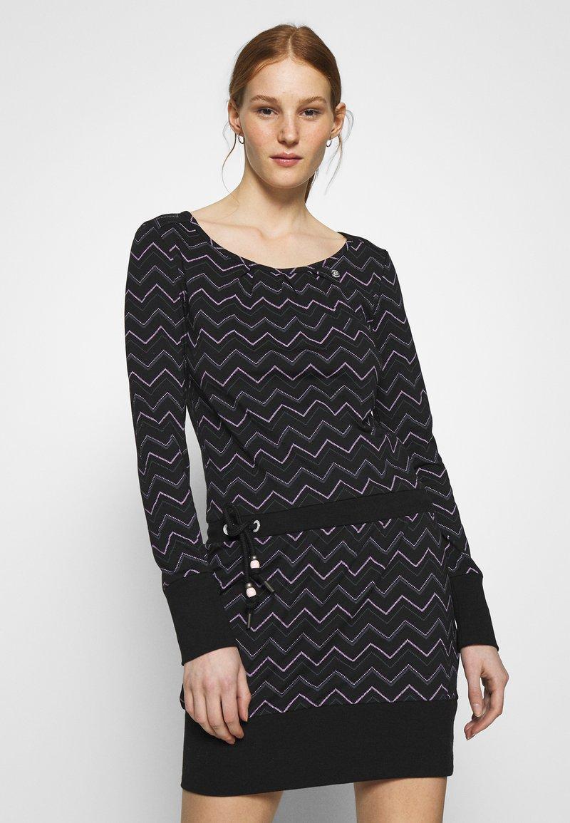 Ragwear - ALEXA ZIG ZAG - Denní šaty - black