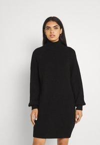Noisy May - NMTIMMY DRESS - Strikket kjole - black - 0