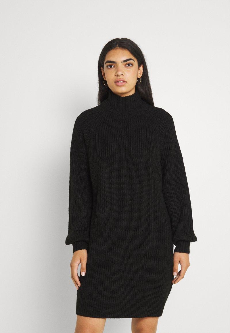 Noisy May - NMTIMMY DRESS - Strikket kjole - black