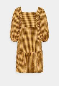 Missguided Plus - GINHAM SQUARE NECK SMOCK DRESS - Day dress - rust - 1
