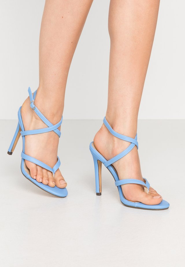 PENNY - High heeled sandals - blue