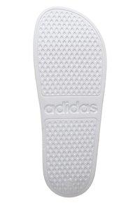 adidas Performance - AQUA ADILETTE - Pool slides - white/black - 4