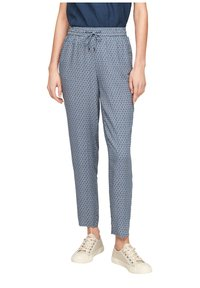 s.Oliver - BROEKEN - Trousers - blue embroidery - 3