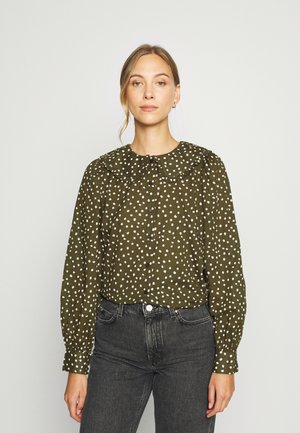 BLOUSE FRILL COLLAR PUFF SLEEVE STRAIGHT FIT - Blouse - multi/burnished logs