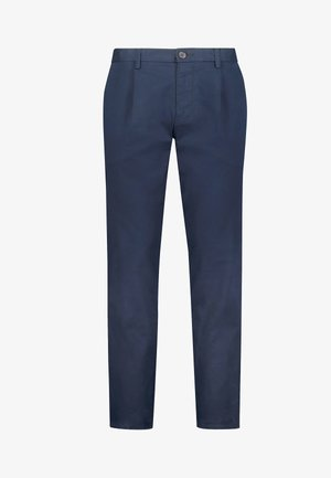 PLEAT FRONT - Chino - blue