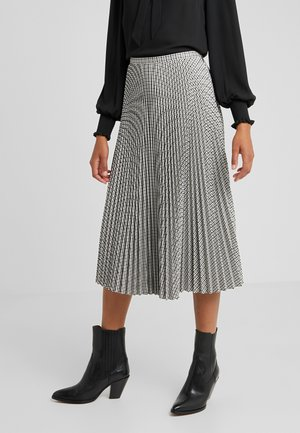 REFINED SUITING PLEATED SKIRT - A-line skirt - brown multi