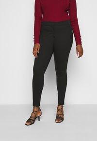 CAPSULE by Simply Be - SHAPE SCULPT SUPER STRETCH PONTE TREGGING - Trousers - black - 0