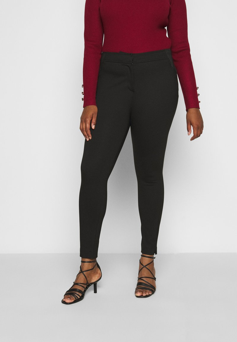 CAPSULE by Simply Be - SHAPE SCULPT SUPER STRETCH PONTE TREGGING - Trousers - black