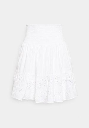 JANNITA - Áčková sukně - white