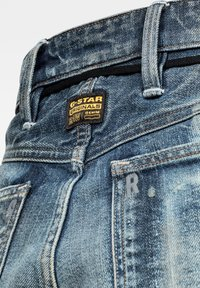 G-Star - LINTELL HIGH DAD - Flared Jeans - antic faded tarnish blue destroyed - 2
