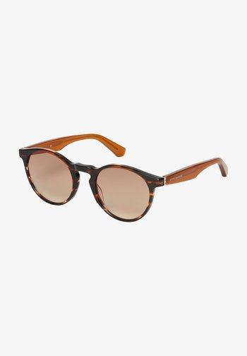 Sunglasses - brown structured / orange