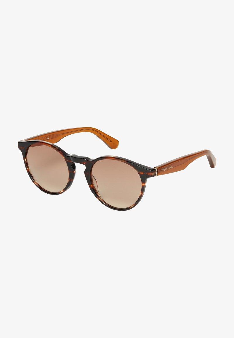 Scotch & Soda - Sunglasses - brown structured / orange