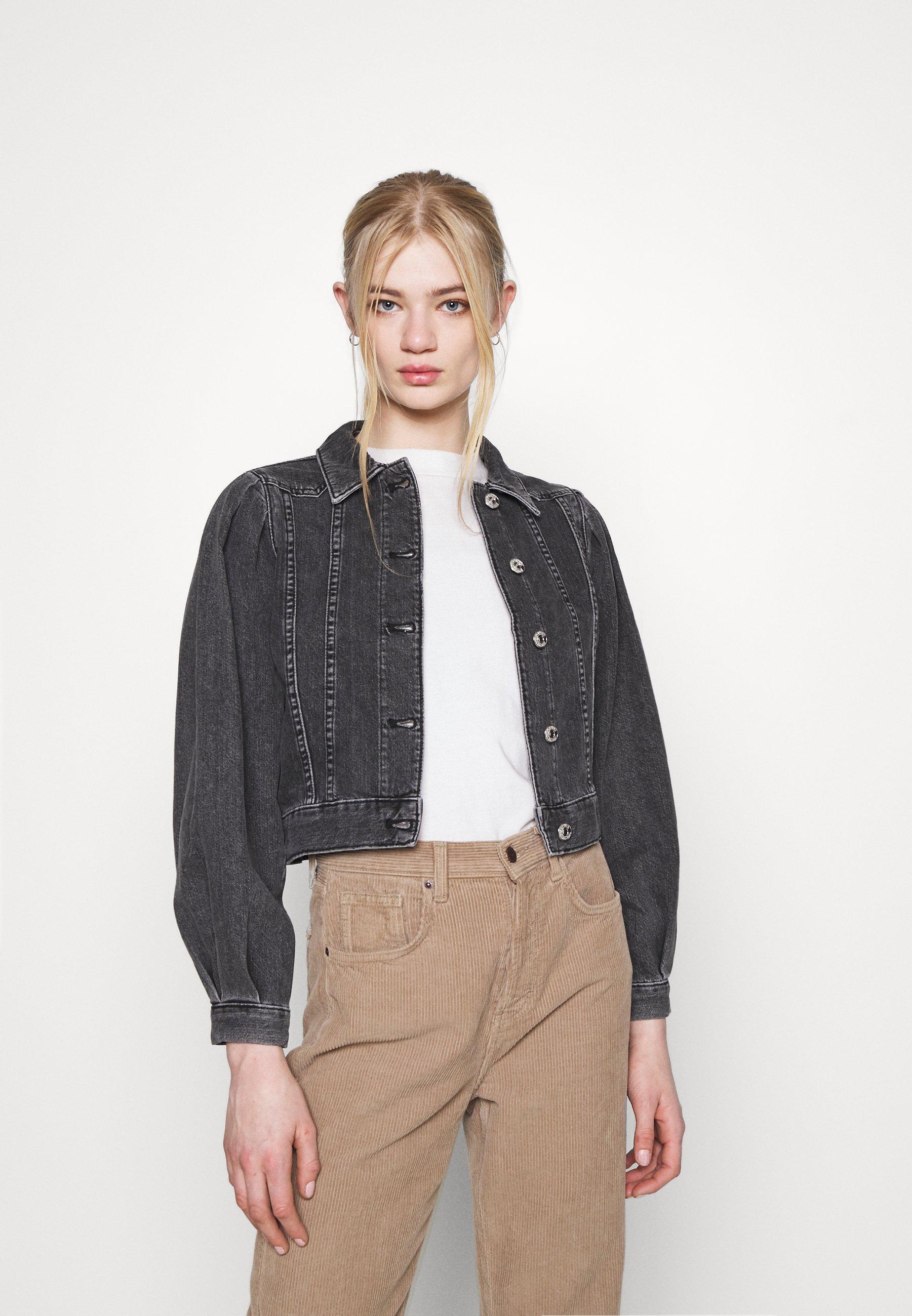 Femme ONLCHARLIE  LIFE PUFF JACKET - Veste en jean