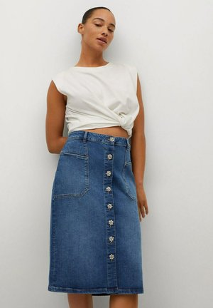 Denim skirt - mittelblau