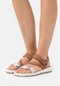 TOM TAILOR - Sandals - beige/cognac - 0