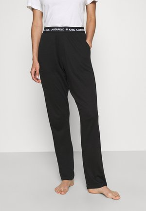 LOGO PYJAMA TROUSER - Pyjama bottoms - black