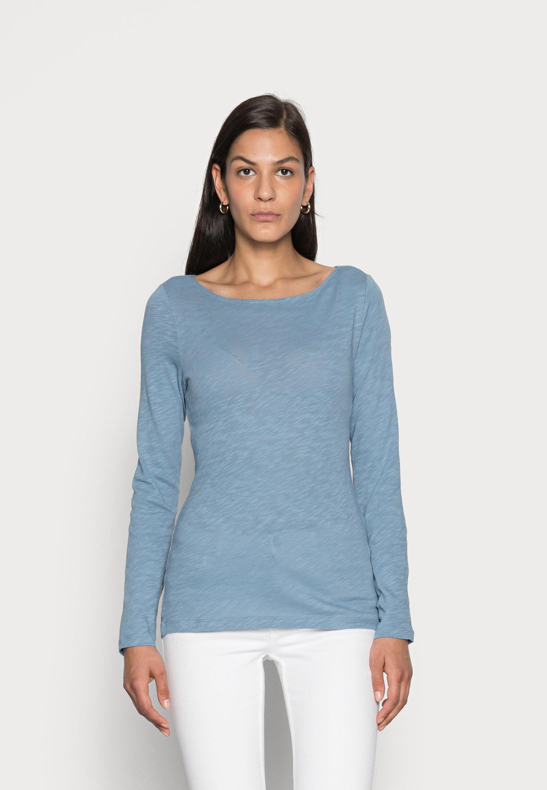Women LONG SLEEVE BOAT NECK - Long sleeved top