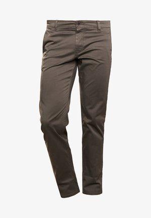 REGULAR FIT - Trousers - dark green