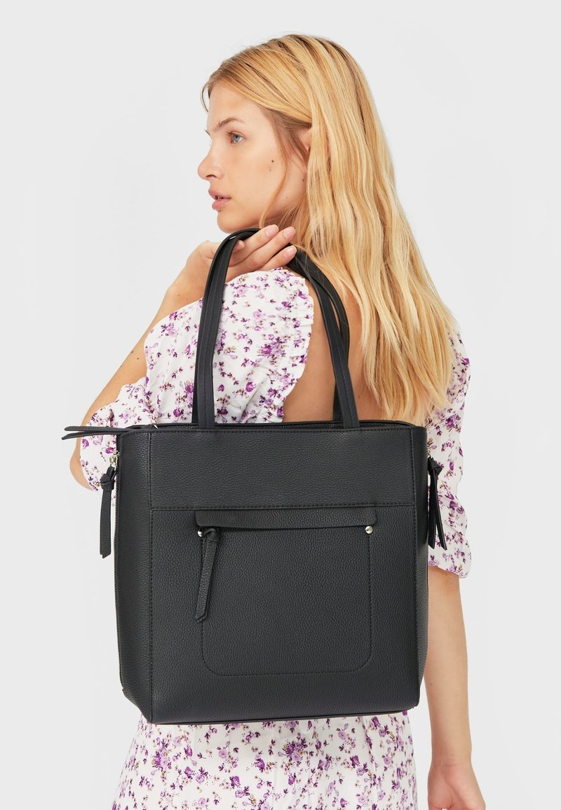 Stradivarius - Tote bag - black