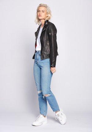 ROCKIG MANAIA - Leren jas - black
