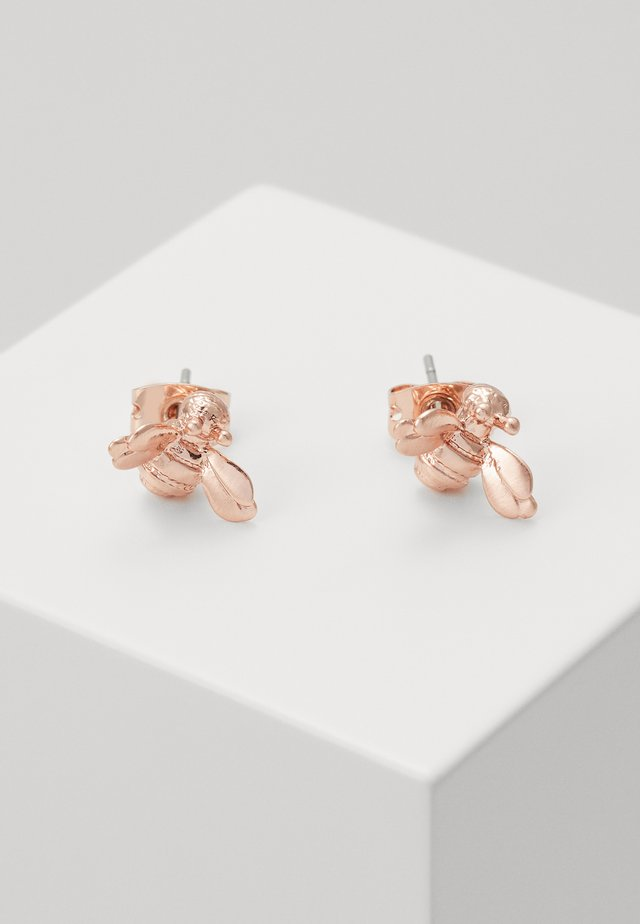BEELLI BUMBLE BEE EARRING - Korvakorut - rose gold-coloured