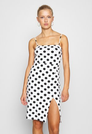 Shift dress - white/black