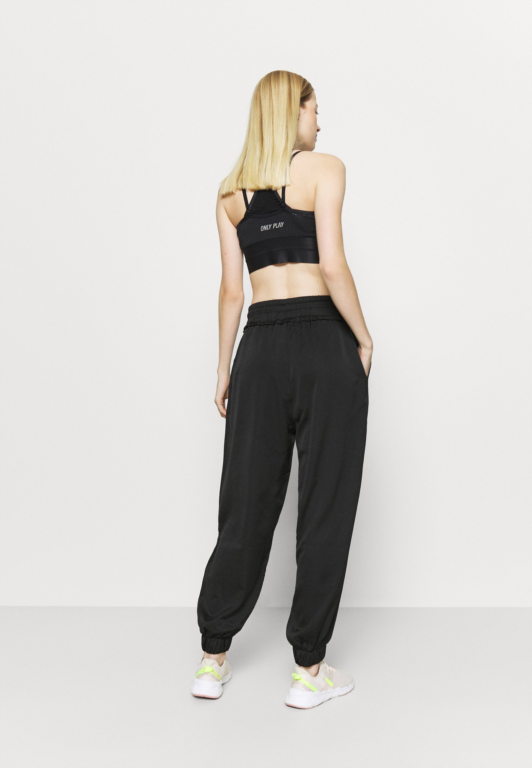 NU-IN HIGH WAIST SEMI SHEER JOGGERS - Tracksuit bottoms - black OnOBy