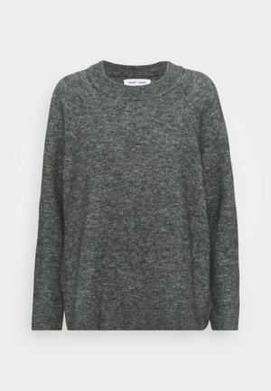 NOR LONG - Strikkegenser - dark grey melange