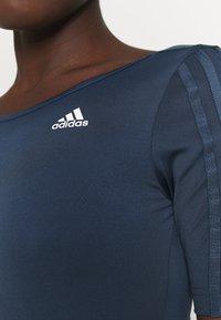 adidas Performance - trikot na gymnastiku - crew navy/white - 4
