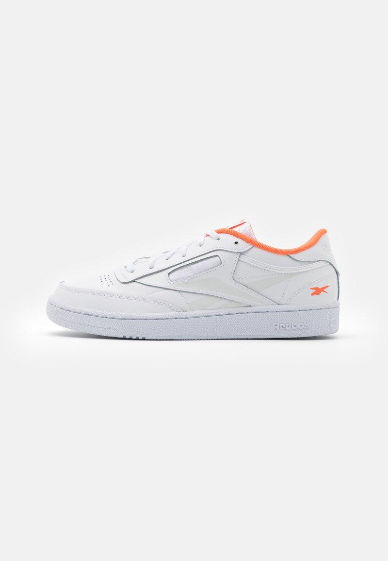 Reebok Classic - CLUB C 85 - Trainers - white/solar orange