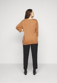MY TRUE ME TOM TAILOR - PLEAT DETAIL - Long sleeved top - light chestnut - 2