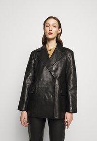 House of Dagmar - CHARLOTTE  - Leather jacket - black - 1