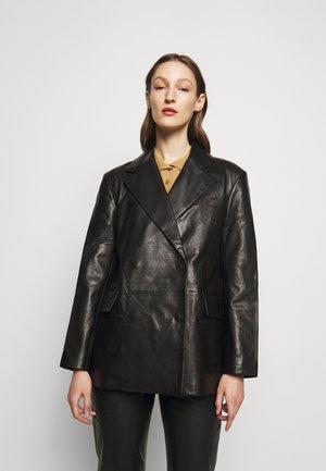 CHARLOTTE  - Kožená bunda - black