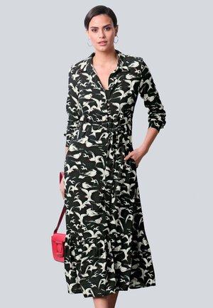 Maxi dress - schwarz,off-white,rot
