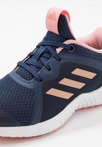 adidas Performance - FORTARUN X - Chaussures de running neutres - tech indigo/copper metallic/glow pink - 2