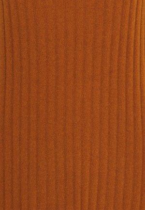TURTLENECK DRESS - Jumper dress - heather orange