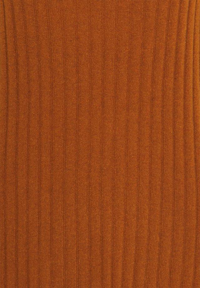 TURTLENECK DRESS - Gebreide jurk - heather orange