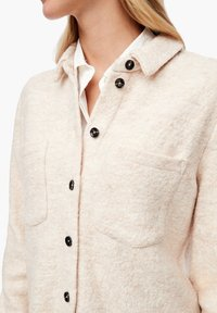 s.Oliver - Button-down blouse - light sand melange - 3