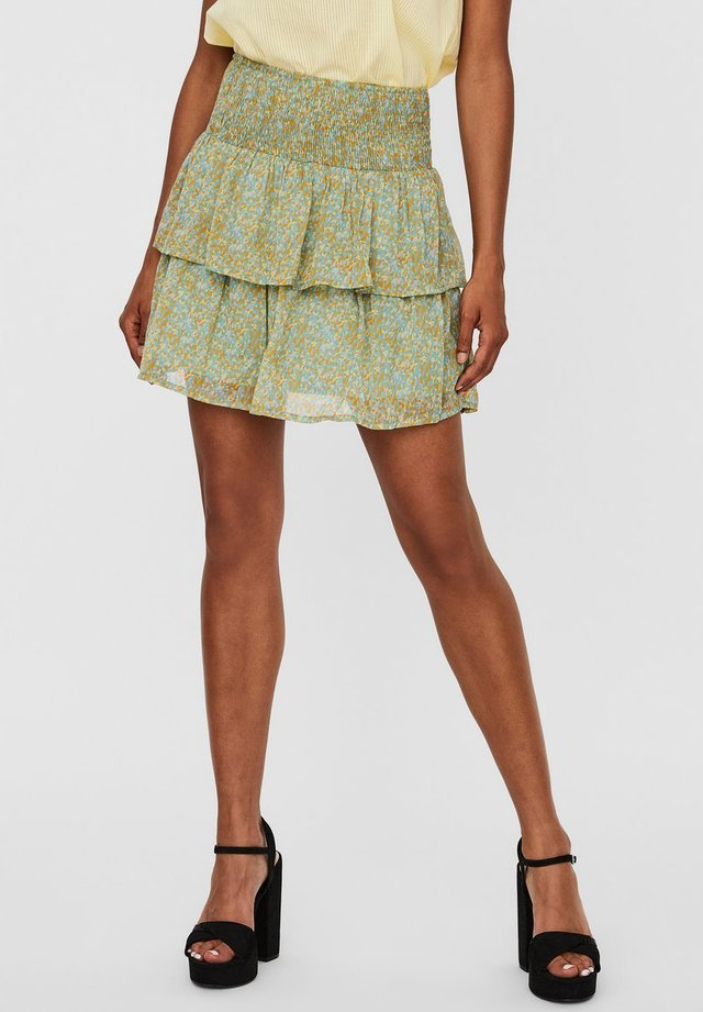 ROCK FLORALER HIGH WAIST - A-line skirt - jadeite